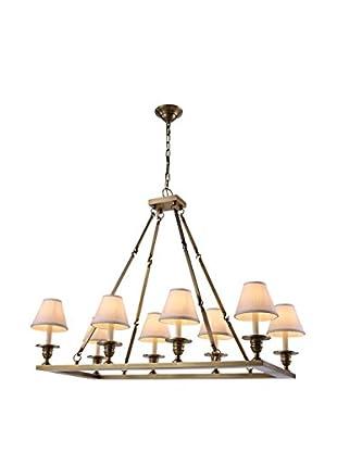 Urban Lights Franklin 8-Light Pendant Lamp, Burnished Brass