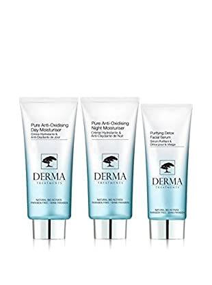DERMA TREATMENTS Kit Facial 3 Piezas Pure Anti-Oxidising+Purifying Detox