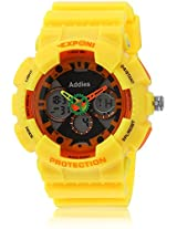 Fs204-Yl01 Yellow/Black Analog & Digital Watch