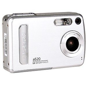 POLAROID A520 - 5.0 MEGAPIXEL DIGITAL CAMERA WITH 4X ZOOM. SILVER. PERFECT GIFT FOR ANYONE.