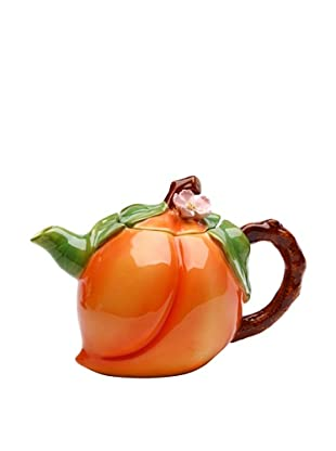 Ceramic Hand-Made Peach Teapot