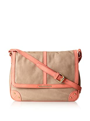 gorjana Women's Grand Adjustable Crossbody, Taupe/Salmon/Gold