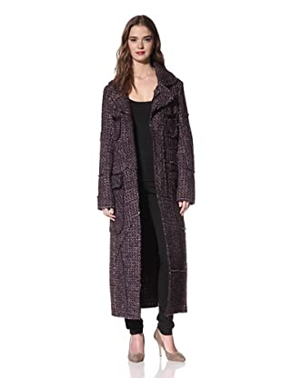 NINA RICCI Women's Tweed Coat (Lilac Grey Tweed)