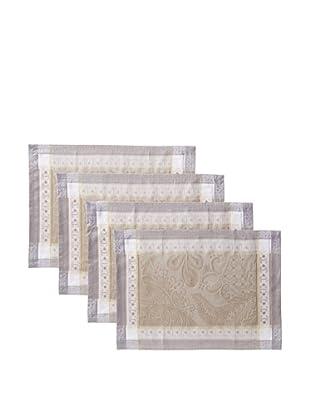 Garnier-Thiebaut Set of 4 Isaphire Placemats, Platine