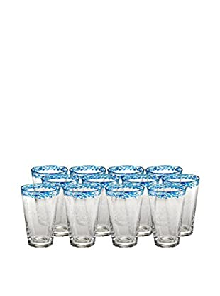 Artland Mingle Set of 12 Tumblers, Turquoise