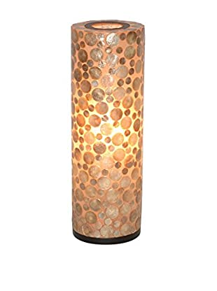 Jeffan Bubbles Decorative Round Table Lamp, Tan