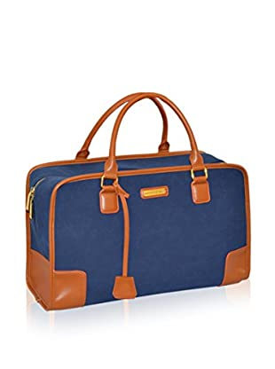 Adrienne Vittadini Faux Suede 18-Inch Duffle, Navy