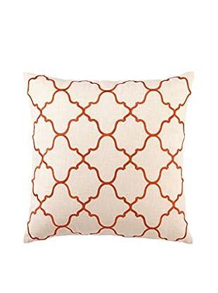 D.L. Rhein Moroccan Tile Embroidery Pillow, Orange