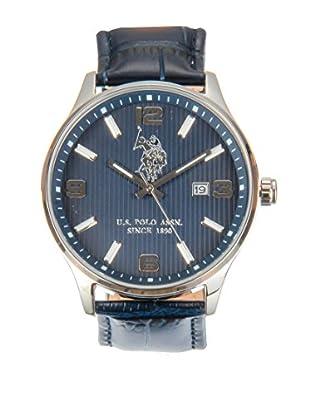 U.S. POLO ASSN. Uhr mit japanischem Quarzuhrwerk Koral blau 44 mm
