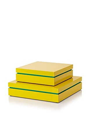 Mili Designs Two-Tone Storage Box Set (Yellow/Green)