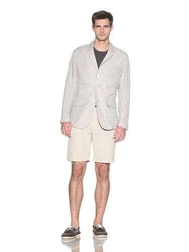 Barque Men's Lightweight Double Cloth 3-Pocket Blazer (Light Grey)