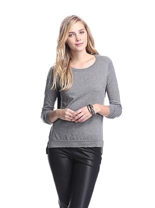 Acrobat Women's Crepe Back Sweater (Steel/Black)