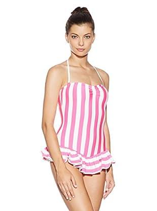 Juicy Couture Bañador Boho Stripe (Fucsia / Crema)