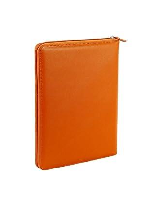Nava Design Portfolio Zip Saffiano (Arancione)