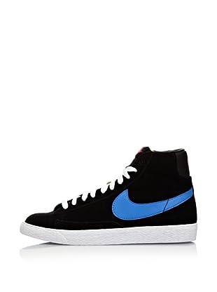 Nike Zapatillas Blazer Mid Vintage (Gs) (Negro / Azul)