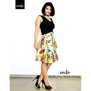 Madhurima Bhattacharjee Beige Pleated Floral Midi Skirt