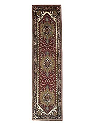 Momeni Indo-Serapi One-of-a-Kind Rug, Wine Red, 2' 7