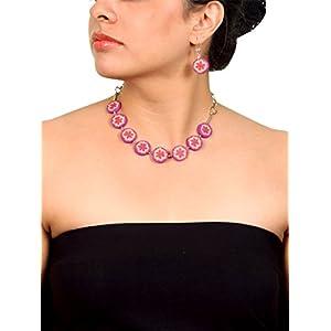 Koral Tree Purple Blaze Polymer Clay Necklace Set