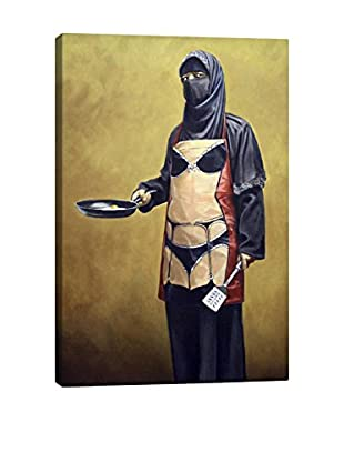 Banksy How Do You Like Your Eggs Gallery Wrapped Canvas Print
