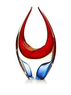 Viz Art Glass Arctic Ice U Sculpture (Ruby)