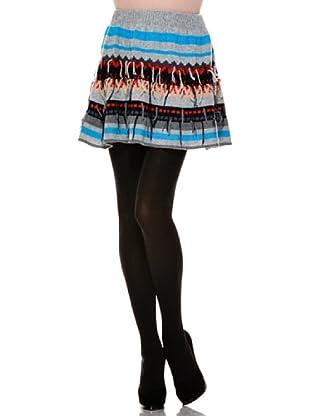 Stefanel Minifalda Mix Righe (Gris)