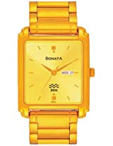 Sonata Analog Champagne Dial Men's Watch - NF7053YM05A