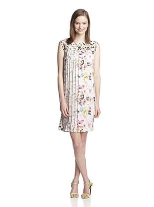 Sfizio Women's Floral Shift Dress (White)