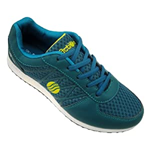 Action DotCom Green Mesh Sports Shoes