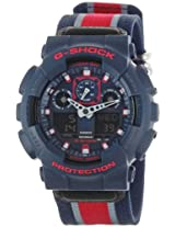 Casio G-Shock Analog-Digital Black Dial Men's Watch - GA-100MC-2ADR (G472)