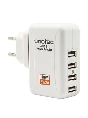 Unotec Cargador USB 4 x
