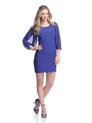 Taylor Women's Long Sleeve Wave Dress (Blueberry)