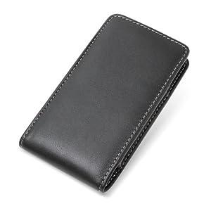 【クリックで詳細表示】PDAIR レザーケース for AQUOS PHONE 102SH II SoftBank /102SH/SH-01D バーティカルポーチタイプ(ブラック) PALCSH01DV/BL