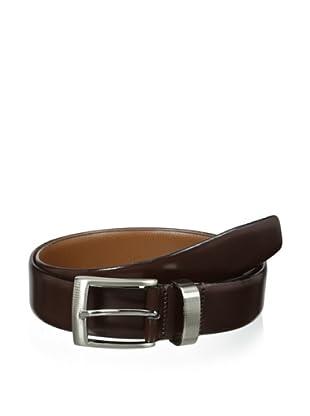 J.Campbell Los Angeles Men's Smooth Leather Belt (Brown)
