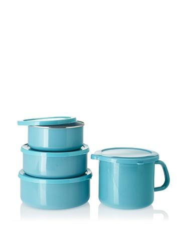 Reston Lloyd Calypso Basics 6-piece Bowl Set with 4-in-1 Mini Stock Pot (Turquoise)