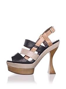 MARNI Women's Slingback Platform Sandal (Carbon Brown)