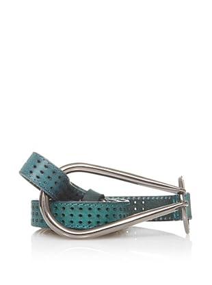 Sándalo Cinturón Perforaciones (Azul)