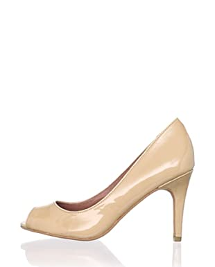 Corso Como Women's Delight Peep-Toe Pump (Beige)
