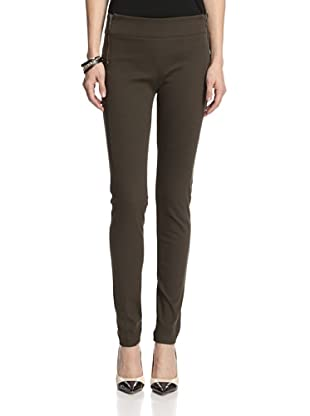Ronen Chen Women's Charlie Twill Pencil Pants (Olive)