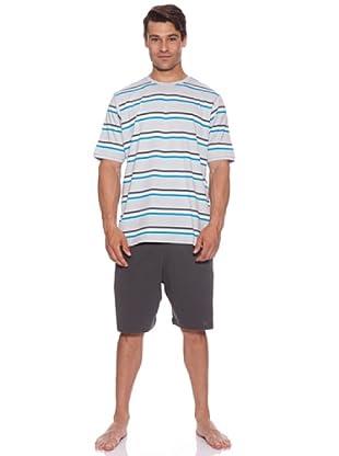 Abanderado Pijama Light Stripes (Gris)