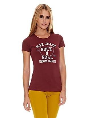 Pepe Jeans London Camiseta Lucia (Rojo Oscuro)