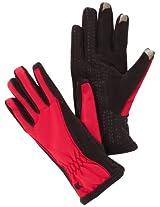 Isotoner Women's Smartouch Matrix Nylon Glove, Deep Azalea, X-Large