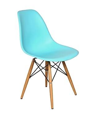 Stilnovo Mid-Century Eiffel Dining Chair, Blue