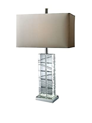 Artistic Lighting Avalon Table Lamp, Chrome/Crystal