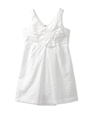 ABS Kids Girl's Sleeveless Dress with Bow (White)