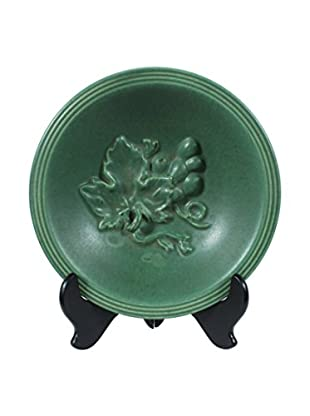 Michael Anderson Ceramic Grape Bowl, Green