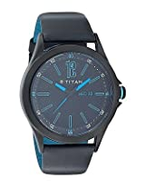 Titan Purple Analog Black Dial Men's Watch - 9323NL01J