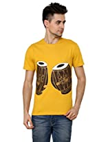 Men - T-Shirt - Boys - Round Neck - Casual Wear - Yellow - - Tabla