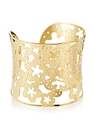 Chloe by Liv Oliver 18K Gold Cut - Out Flower Cuff Bracelet