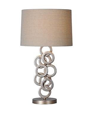 Brunella Table Lamp, Antique Silver