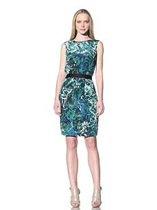 Adrienne Vittadini Women's Printed Dress (Lapis)